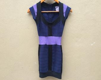 Vintage HERVE LEGER XS Dress Shirt Bandage