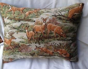 Decorative deer pillow. Deer throw pillow. Home decor . Decorative  pillow. Room decor. Bedroom decor. Homemade pillow. Gift for him,
