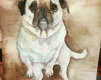 Custom watercolor of your pet