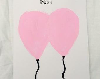 Pink Pop Birthday Card