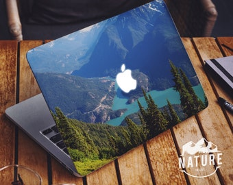 Stickers macbook pro pristine nature creative macbook decals blue macbook air laptop vinyl skin green macbook vinyl -NI042