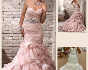 Organza customised wedding gown