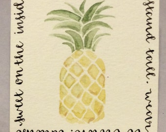 Be a pineapple..., Pineapple Picture, Pineapple Watercolor, Pineapple Art, Southern Sayings, Southern Charm