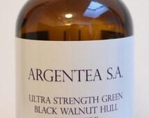 Ultra Strength Green Black Walnut Hull Tincture 4 Oz. by Argentea S.A.