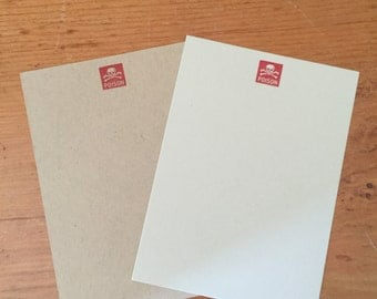 Letter Press: Poison 3 1/2 X 4 flat note card