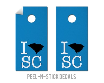 South Carolina - Panthers - State Pride - Cornhole Board Decals