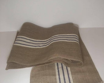 Burlap Table Runner with Ribbon