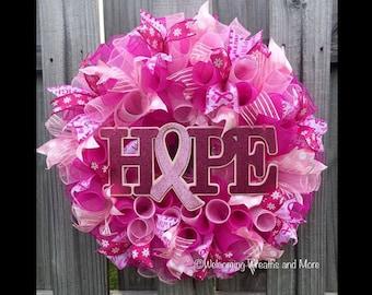Breast Cancer Hope Wreath
