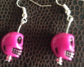 Skull Earrings in Pink - other colours available