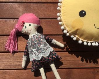Rosie- Handmade clothdoll