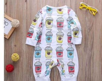 Baby Girl Outfit-Starbucks inspired jumper onesie 3-6months