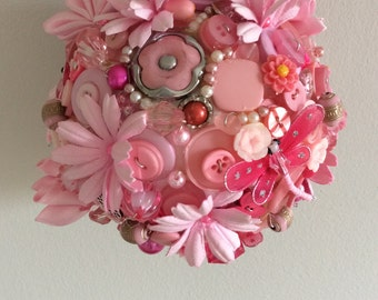 Pink wedding pomander