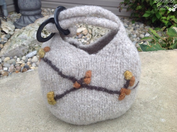Felted Purse-Dumpling Bag-Small Felted Bag