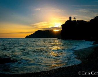 Vernazza Cinque Terre Sunset Print, Italy Print, Cinque Terre Photography, Italy Photography Prints, Sunset Print, Sunset Photography,