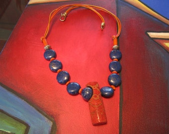 Lapis Lazuli necklace. 21 in.