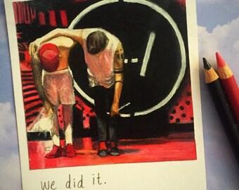 We Did It - Print of Polaroid Drawing