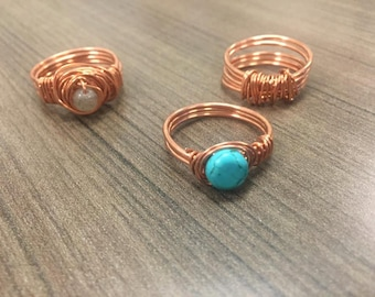 Men's Wire Wrapped Rings