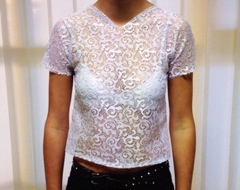 White lace T-shirt