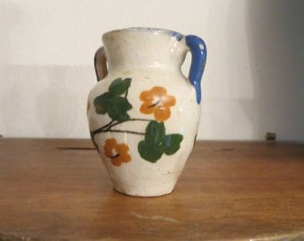 Doll Miniature Vase with Handles Made in Italy