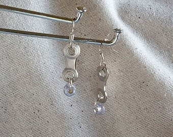 Upcycled Bike Chain Earrings – Luster Bead