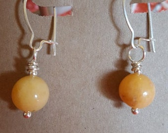 HandCrafted Earrings - Tangerine drop2