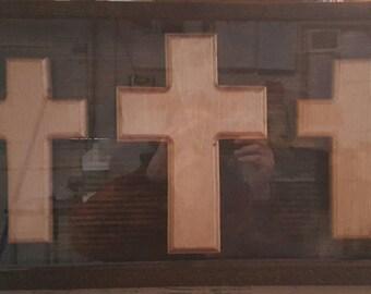 3 Floating Cross Display