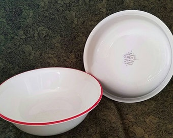 Red Trimmed Corelle Bowls