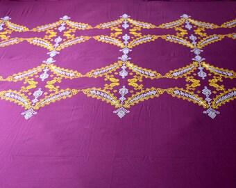 SurJ Kasuti Royal Crown Hand Embroidered Bedsheet