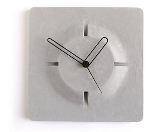 Concrete wall clock - Aim clock grey