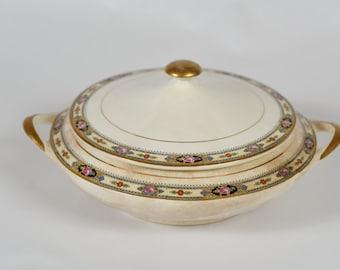 1890's Antique Boston Pottery Casserole Dish
