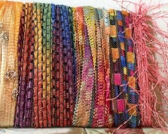Creative Art Bundle Fiber Yarn Bundle - 10+ yards - Calm Sunset - Ready to Ship