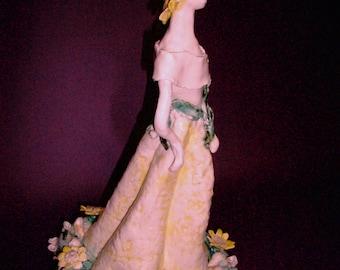 "Porcelain Sculpture .  "" Mary, Mary ,Quite Contrary """