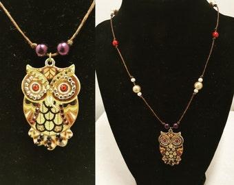 Owl Twine Necklace
