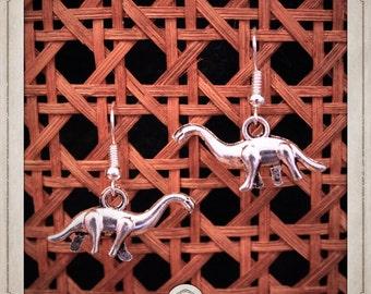 DIPLODOCUS earrings silver dinosaur Jurassic Park BOA001 dino