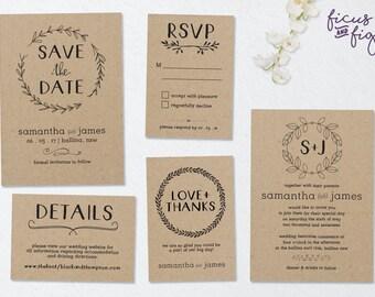 printable wedding invitation | etsy, Wedding invitations