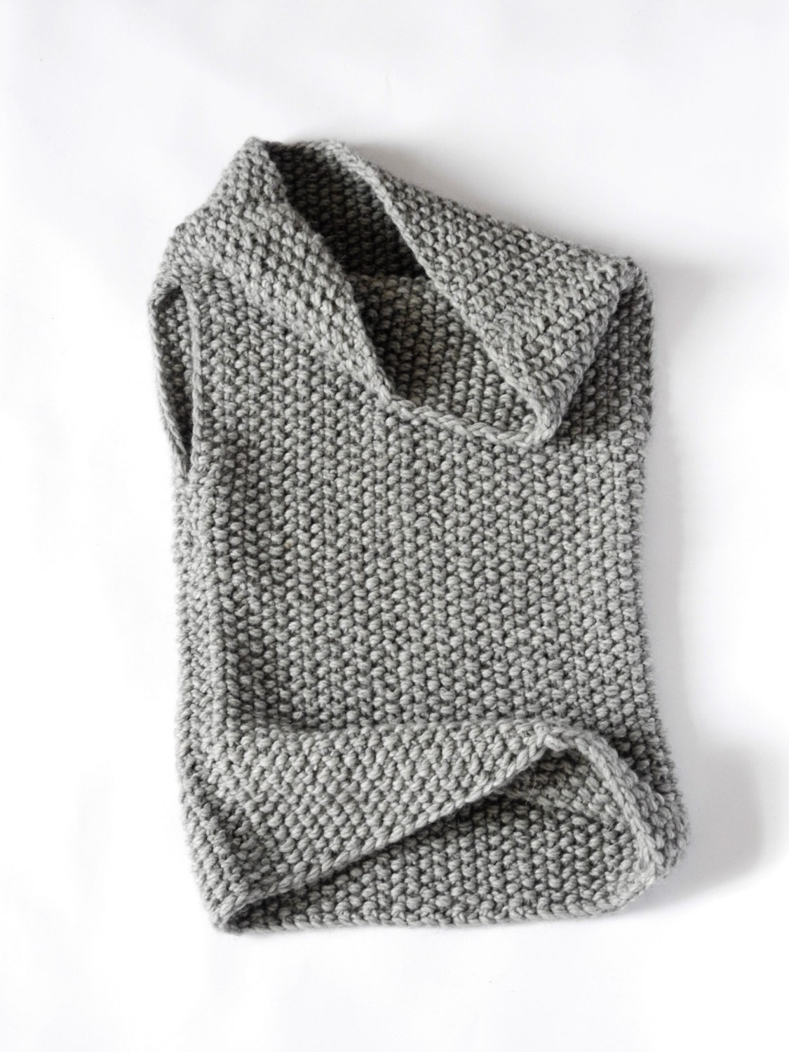 The Mavis / Chunky Knit Hooded Cowl Vest / Hand knitted wear/