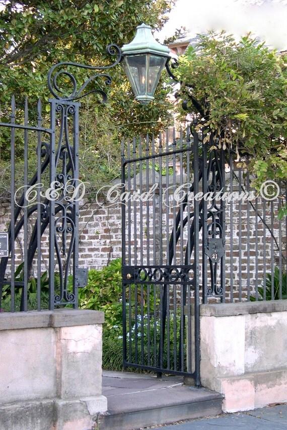 Gates Of Charleston Card Charleston By Canddcardcreations