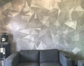 Custom Wall Vinyl- Geometric Wall Art- Wall Murals- Home Decor- Perfect Accent Wall
