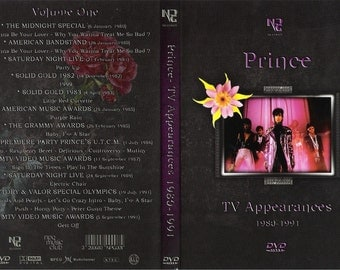 PRINCE TV APPEARANCES volume 1 - 6 dvdr set (All tv appearances from 1979-2007)