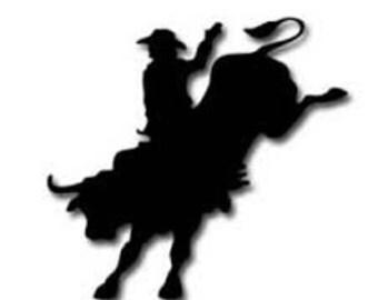 Rodeo Vinyl Decal, Bull Riding Car Decals, Bull Riding Yeti Decal, Bull Rider Decal, Bull Rider, Bull Rider Car Decal, Bull Riding