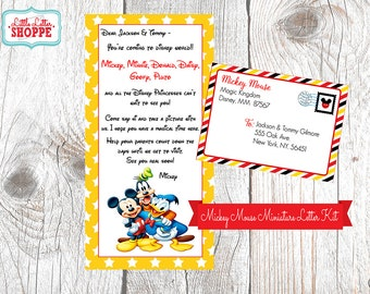 INSTANT DOWNLOAD EDITABLE Miniature Mickey Mouse Letter