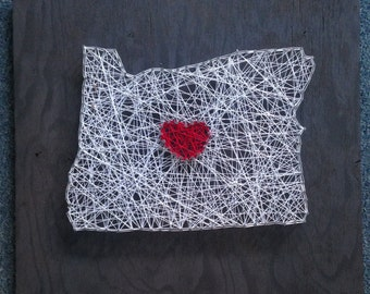 Oregon state string art piece