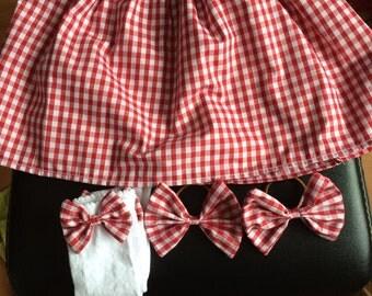 Girls School Skirt Set