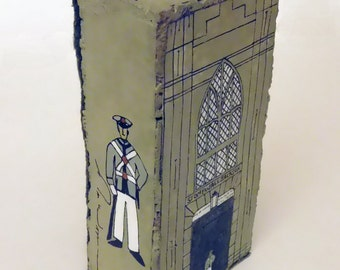 "Hand painted collectible brick inspired by the Jackson Arch at VMI Barracks 8.375"" x 4"" x 2.375"""