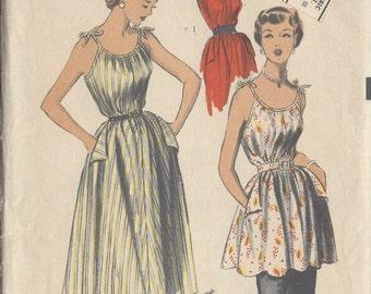 "1950s Vintage Sewing Pattern B30""-32"""" DRESS, SMOCK & APRON (227) Advance 5960"
