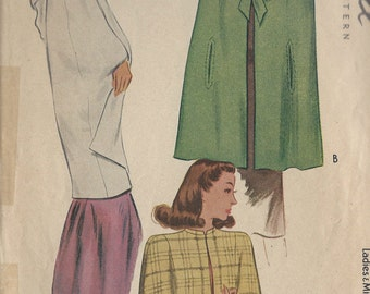 "1945 Vintage Sewing Pattern CAPE B32"" (R254)  McCall 5986"