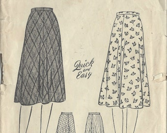 """1940s Vintage Sewing Pattern SKIRT W:34"""" (R115) Butterick 2618"""