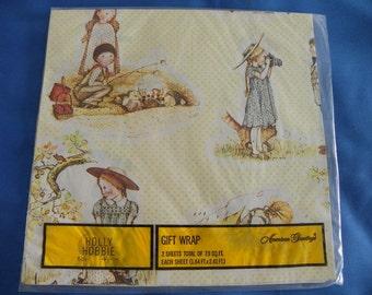 Vintage HOLLY HOBBIE Gift Wrap GW1172A