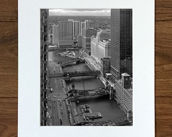 Chicago Photography - Chicago River - Black and White