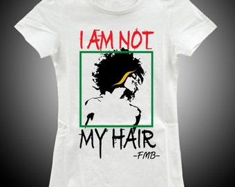 I Am Not My Hair Fitted Tshirt